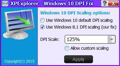Win 10 DPI-FIx